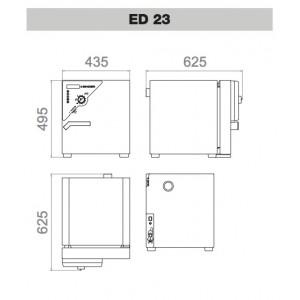 Сушильный шкаф Binder ED 23 (23 л, до 300 °C, без вентилятора)