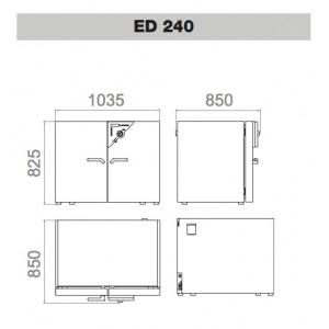 Сушильный шкаф Binder ED 240 (240 л, до 300 °C, без вентилятора)