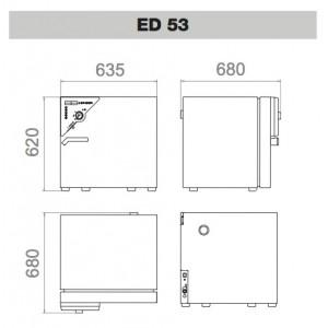 Сушильный шкаф Binder ED 53 (53 л, до 300 °C, без вентилятора)