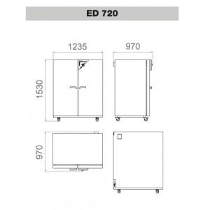 Сушильный шкаф Binder ED 720 (720 л, до 300 °C, без вентилятора, RS-432)